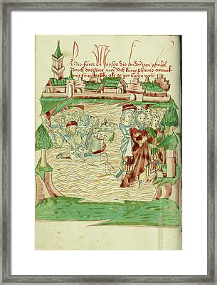 The Crossing Of The Red Sea Follower Of Hans Schilling Framed Print by Litz Collection