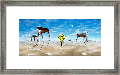 The Crossing - Panoramic Framed Print