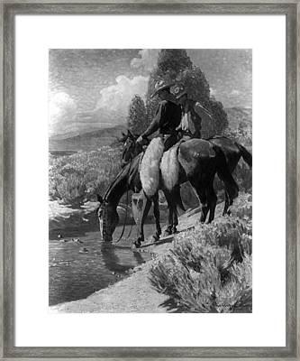 The Crossing Framed Print by W Herbert Dunton