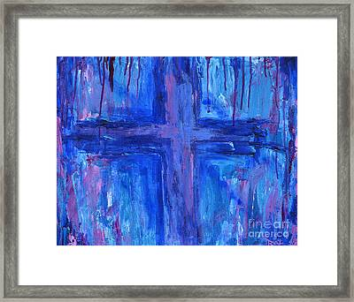 Framed Print featuring the painting The Crossroads #2 by Roz Abellera Art