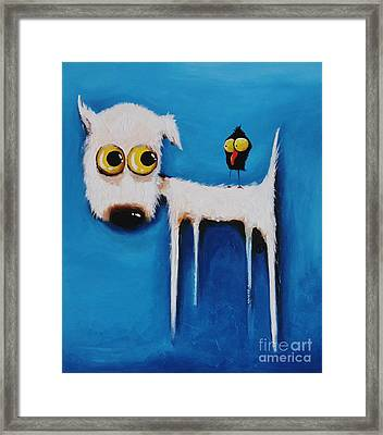 The Crow And The Dog Framed Print