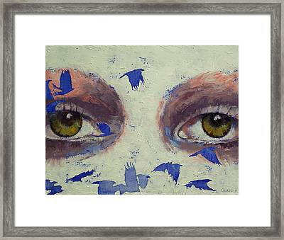 The Crow Is My Only Friend Framed Print by Michael Creese