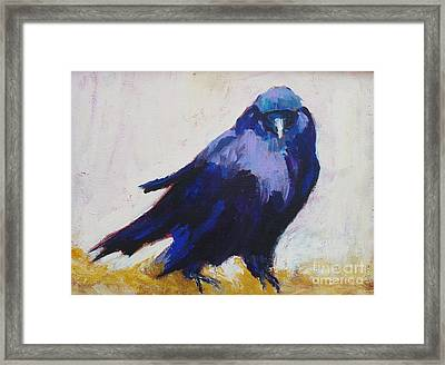 The Crow Framed Print by Virginia Dauth