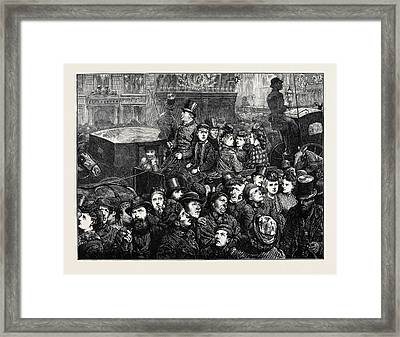The Crowd Illuminated Framed Print by English School