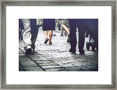 The Crowd Framed Print by Stephen Ignacio