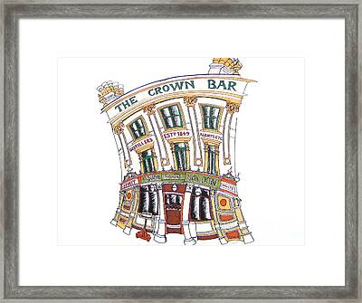 The Crown Bar Belfast Framed Print by Tanya Mai Johnston