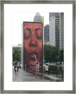 The Crown Fountain Framed Print by Jessica Berlin