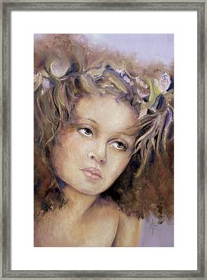 Framed Print featuring the painting The Crown by Jodie Marie Anne Richardson Traugott          aka jm-ART