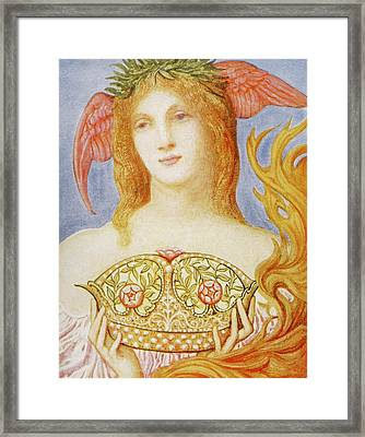 The Crown Of Peace Framed Print by Sir William Blake Richmond