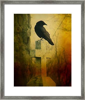 The Crow's Cross Framed Print by Gothicrow Images