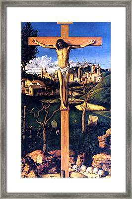The Crucifixion 1503 Giovanni Bellini Framed Print by Karon Melillo DeVega