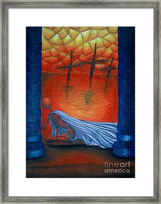 The Crucifixion Framed Print by Coriander  Shea