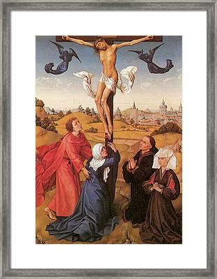 The Crucifixion  Framed Print by Rogier Van Der Weyden