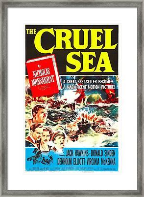 The Cruel Sea, Us Poster, Jack Hawkins Framed Print by Everett