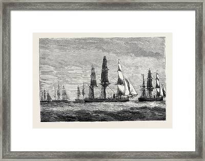 The Cruise Of The Pacific Squadron Framed Print