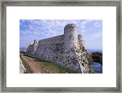 The Crusader Castle Krak Des Chevaliers Syria Framed Print by Robert Preston
