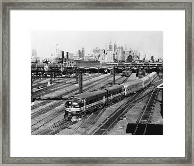 The Crusader Streamliner Train Framed Print by Underwood Archives