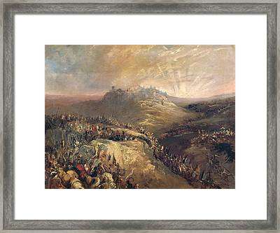 The Crusaders Before Jerusalem Oil On Canvas Framed Print by Eugenio Lucas Velazquez