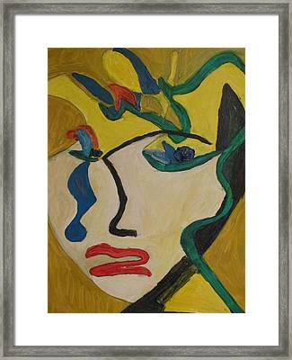 The Crying Girl Framed Print by Shea Holliman