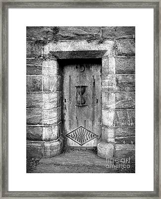 The Crypt Door Framed Print by Avis  Noelle