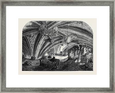 The Crypt Under Old St. Stephens Chapel Westminster Now Framed Print by English School