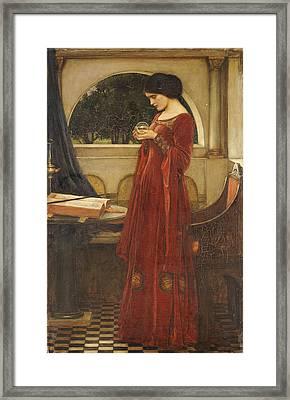 The Crystal Ball, 1902 Oil On Canvas Framed Print by John William Waterhouse