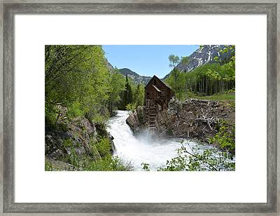 The Crystal Mill Framed Print
