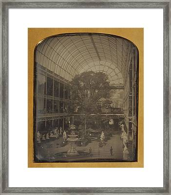 The Crystal Palace At Hyde Park, London John Jabez Edwin Framed Print by Litz Collection