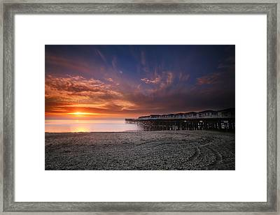 The Crystal Pier Framed Print by Larry Marshall