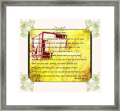 The Cubby House Framed Print by Barbara Griffin