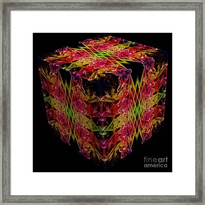 The Cube 1 Framed Print by Steve Purnell