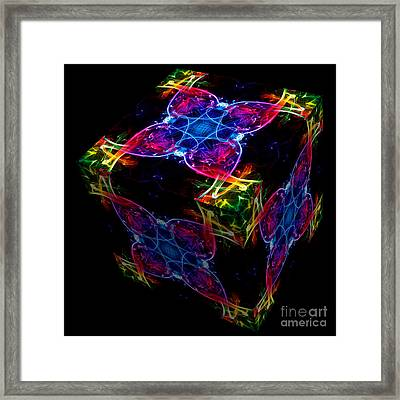 The Cube 4 Framed Print by Steve Purnell