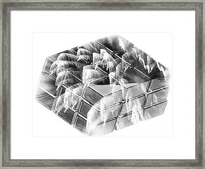 The Cube - Abstract - Ile De La Reunion - Reunion Island - Indian Ocean Framed Print by Francoise Leandre