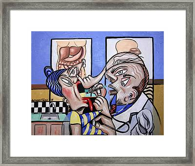 The Cubist Doctor Md Framed Print by Anthony Falbo