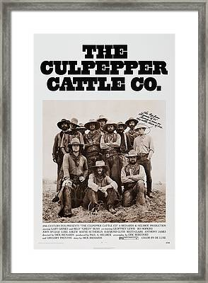 The Culpepper Cattle Co., Us Poster Framed Print