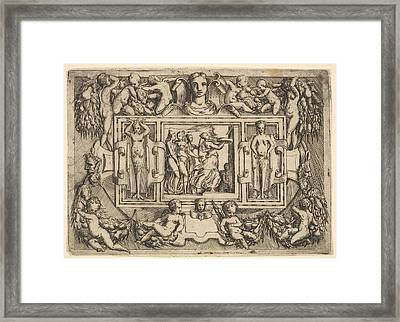The Cumeaean Sibyl Walking To The Right Framed Print