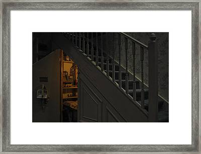 The Cupboard Under The Stairs Framed Print
