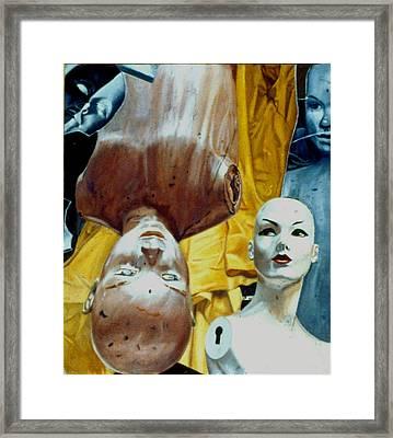 The Curtain Framed Print by Dan Ault