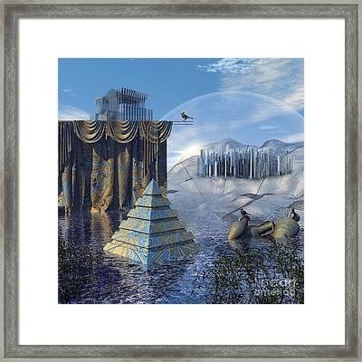 The Curtain Falls Framed Print by Diuno Ashlee