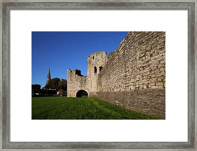 The Curtain Walls Of Trim Castle Framed Print