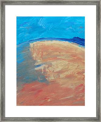 The Curve Of The Beach Framed Print by Lenore Senior