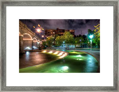 The Curved Fountain Framed Print