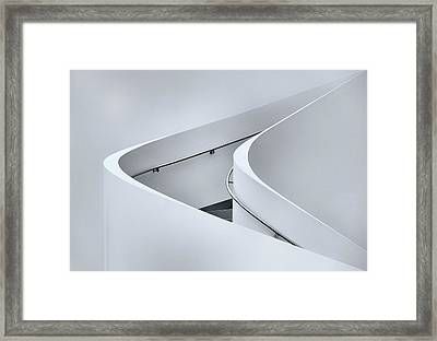 The Curved Stairs Framed Print by Jeroen Van De