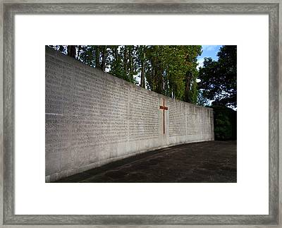 The Curved Wall Bearing The 1916 Framed Print by Panoramic Images
