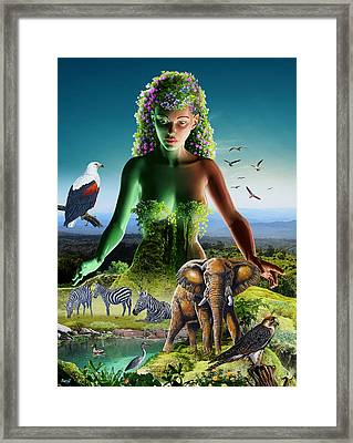 The Custodian Framed Print by Anthony Mwangi