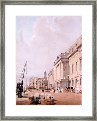 The Custom House, From London Framed Print by Thomas Shotter Boys