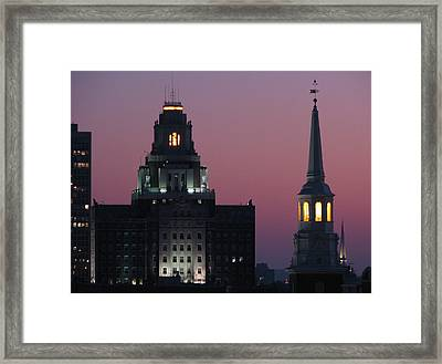 The Customs Building And Christ Church Framed Print