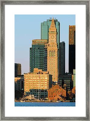 The Customs House Clock Tower Framed Print
