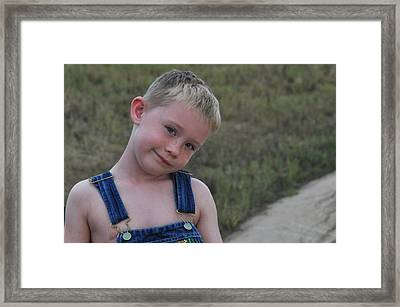 The Cute Face Framed Print by Teresa Blanton