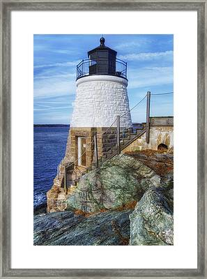 Castle Hill The Cutest Lighthouse In The World Framed Print